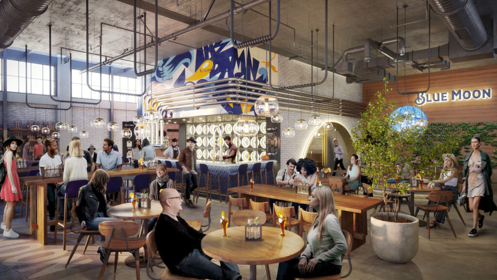 3D interior renderings mall kipcreating
