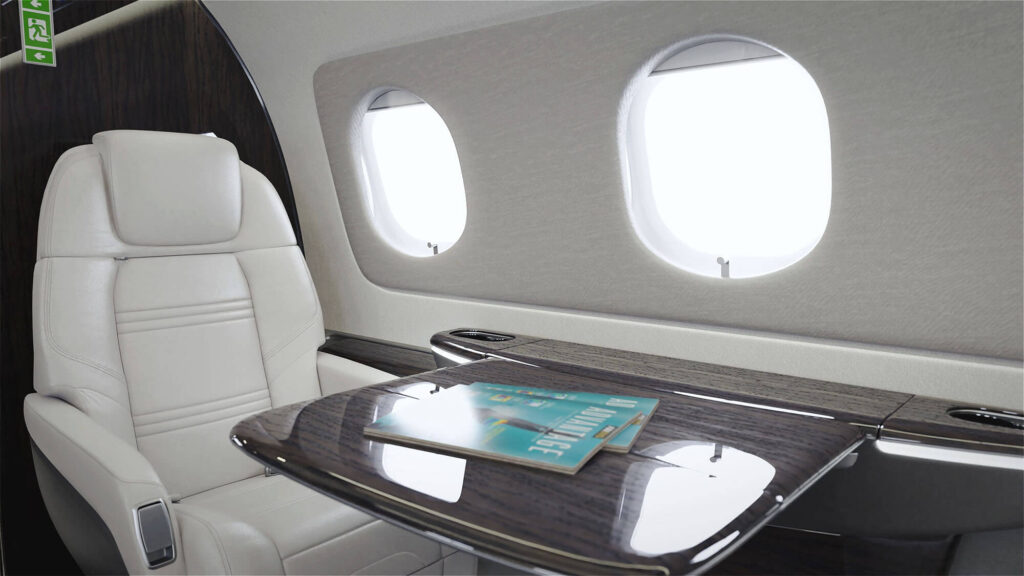 praetor 600 interior aircraft rendering