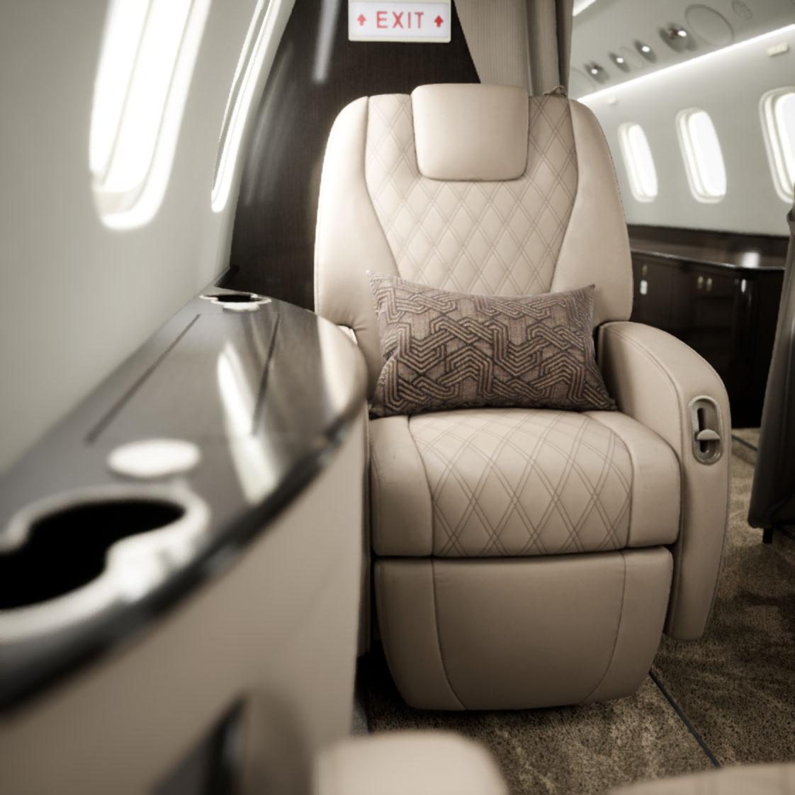 L650 - seat close up
